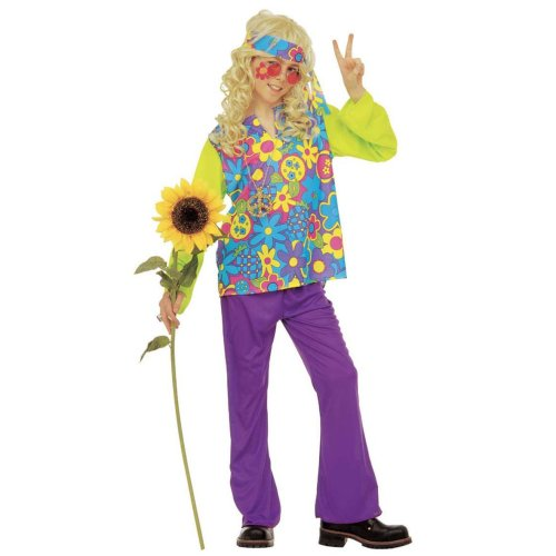 Hippie Boy - Childrens Fancy Dress Costume (8-10 Years - 140cm) - hippie fancy dress costume flower power childs boys 60s childrens hippy 70s outfit  sc 1 st  OnBuy & Hippie Boy - Childrens Fancy Dress Costume (8-10 Years - 140cm ...