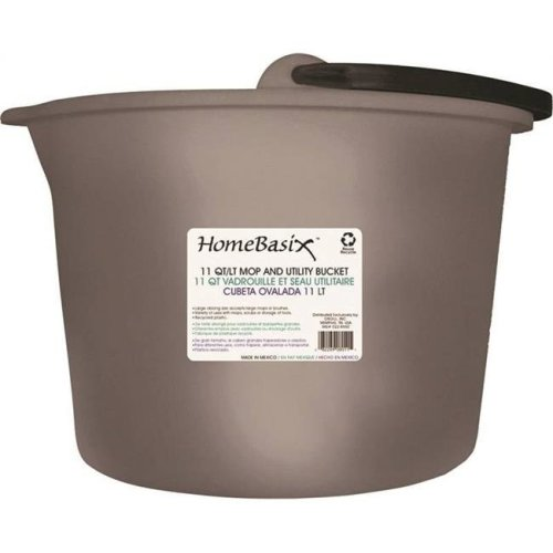 Homebasix 0228650 11 qt. Oblong Bucket with Handle - Case of 12