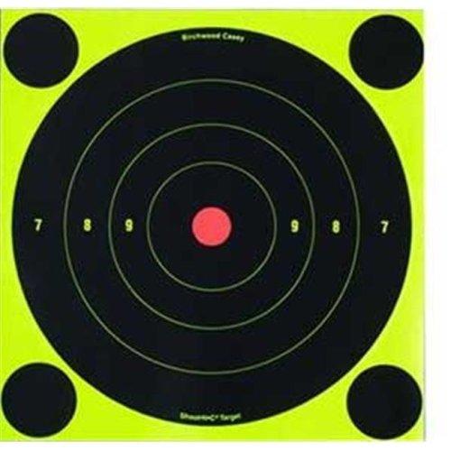 Birchwood Casey BC-TQ4-6 Birchwood Casey Shoot - N - C Targets  8 in.  Bullseye  6 Targets  plus  24 Pasters