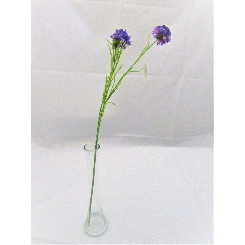 32cm Set of 2 Artificial Purple Hyacinth Bushes Spring Flowering Plants