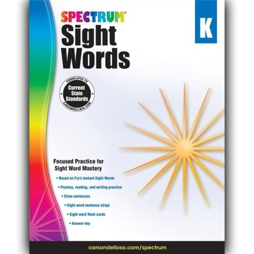 Carson Dellosa CD-704614BN 2 Each Spectrum Sight Words Workbook - Grade K