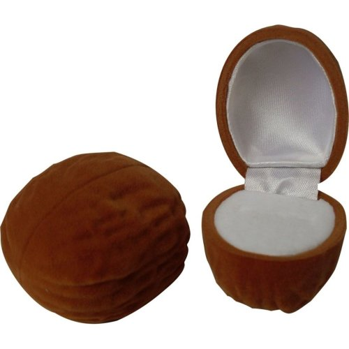 This walnut ring box is perfect for presenting a ring to someone who loves walnuts.