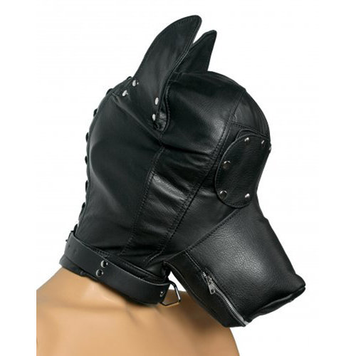 Ultimate Leather Dog Hood  BDSM Masks - Strict Leather