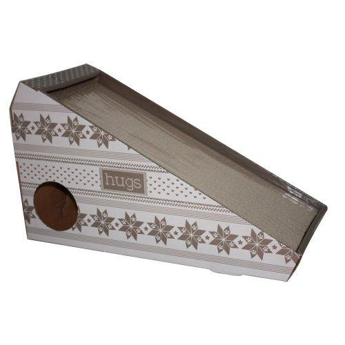 Cat Cardboard Scratching Board Box Ramp With Catnip