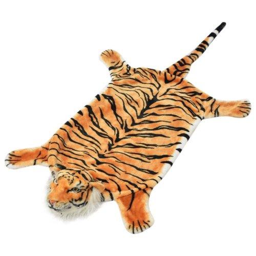 vidaXL Tiger Carpet Plush 144 cm Brown
