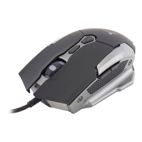WHITE SHARK GAMING GM-1804 Phageborn Umethon The Cinder Ravanger 3200dpi Gaming Mouse Black/Silver