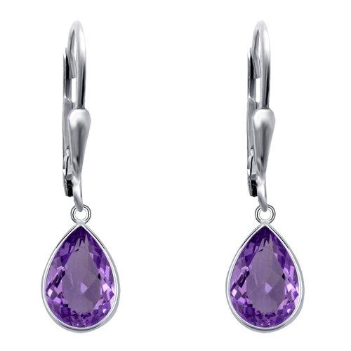 bffc6ef0f Sterling Silver Earring Set Dangle Earring Set Amethyst Earrings Amethyst  Jewellery For Women Amethyst Earing In Silver (6.52 Ctw) on OnBuy