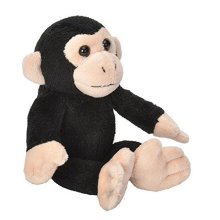 Wild Republic 18109 Wild Republic 15cm Ck Lil's Plush Chimpanzee Monkey - -  wild republic cuddlekins lils chimpanzee soft toy 15cm plush cuddly