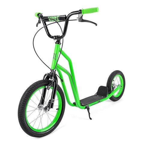 Xootz Kids BMX Stunt Scooter with Caliper Brakes Green Steel WB-TY5891