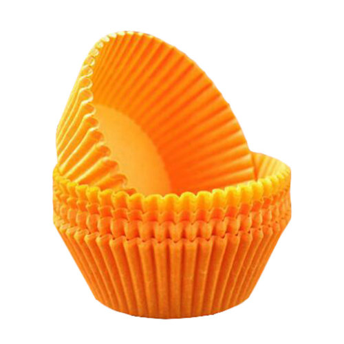Baking Cups for Cupcakes Best Quality Cupcake Wrapper Maffin Cup 100 PCS-Orange