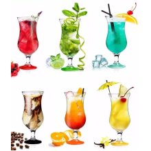 6pc Pina Colada Cocktail Glass Set | 6 Large Cocktail Glasses