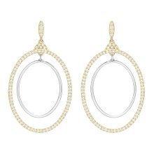 Swarovski Gilberte Hoop Pierced Earrings - White - 5279774