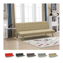 Sofa Bed 3 Seats for Living Rooms and Offices in Faux Leather ZAFFIRO