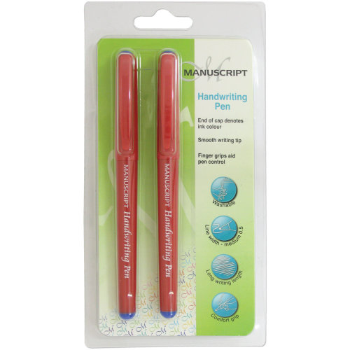 Manuscript Handwriting Pens 2/Pkg-Blue Ink