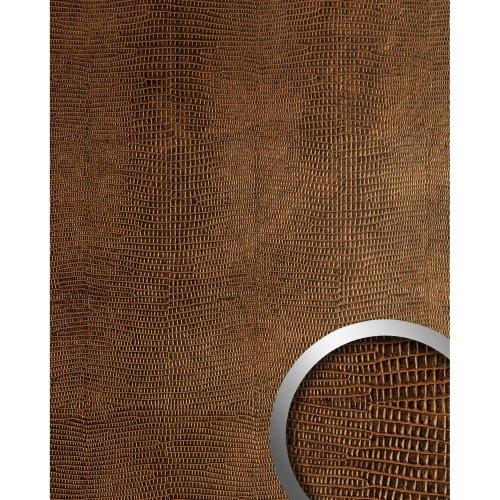 WallFace 19777 Antigrav LEGUAN Copper Wall panel leather look matt copper 2,6 m2