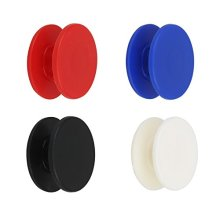Bearing Caps Only, Holody 8 Pcs Caps for Tri Fidget Spinner Toy with 608 Bearings, ABS Plastic - Black, Blue, Red and White