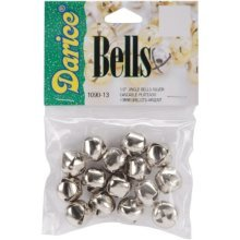 """Jingle Bells .5"""" 15/Pkg-Silver"""