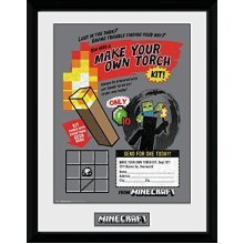 Gb Eye Ltd Gb Eye, Minecraft, Make Your Own Torch, Framed Poster 30x40 Cm,