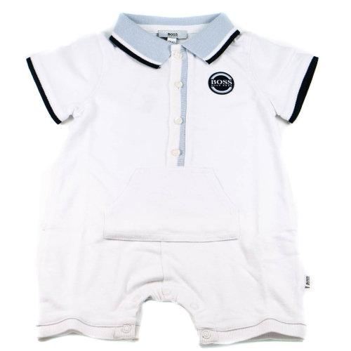 Hugo Boss Baby Grow Polo Shortie White