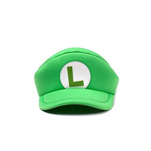 5fae45820 Bioworld EU Nintendo Super Mario Bros. Shaped Curved Bill Luigi Logo, Green  (HA100504NTN) Flat Cap, Green (Green Green), One Size (New) on OnBuy