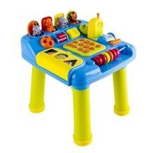 deAO Baby and Toddler Learning Table with Shape Sorter / Number and Letters Keypads and Pop Up Animals