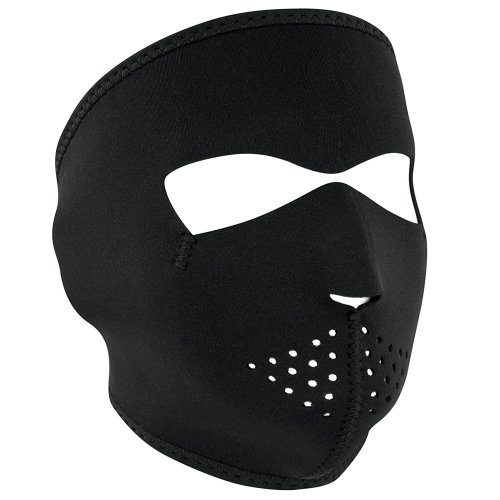 Full Face Ski Mask Neoprene - Plain Black
