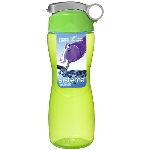 Sistema Hourglass Drink Bottle 645ml, Green