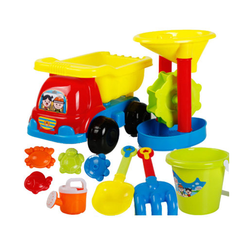 10 Piece Beach sand Toy Set, Bucket, Shovels, Rakes,Perfect for Holding Childrens' Toys#B