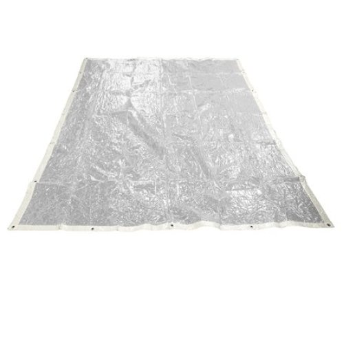 2 x 3m Clear Toolzone Pvc Tarpaulin - 2m Ground Sheet Camping Cover Waterproof -  clear tarpaulin pvc 2m x 3m ground sheet camping cover waterproof