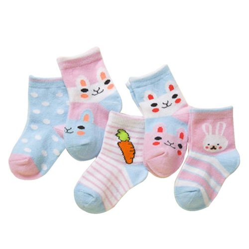 5 Pairs Of Baby Socks Baby Warm Cotton Socks For 1-3 Years Old [D-2]