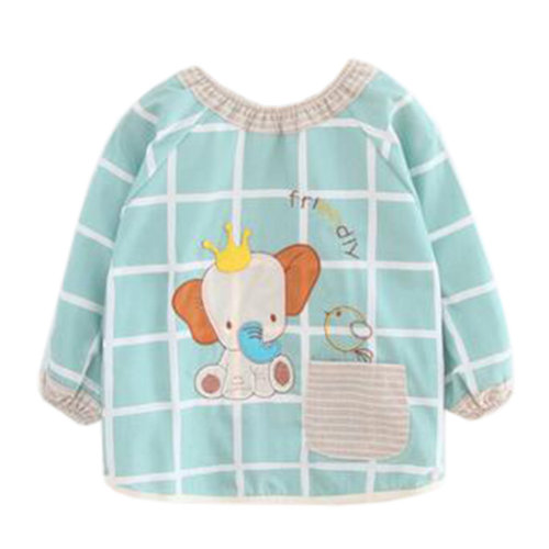 Lovely Baby Bibs Feeding Bib Kid's Apron Overclothes Waterproof Long Sleeves Art Smock NO.22