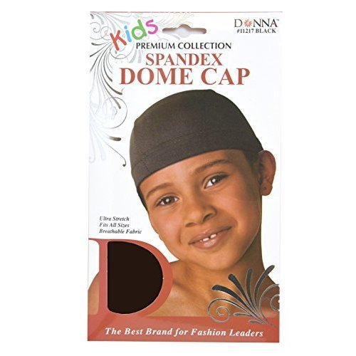 Donna Kids Spandex Dome Cap Brown stretchable stretchy fits all sizes breathable material fabric salon premium quality stays on your head