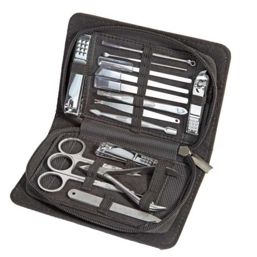 15pc Professional Manicure Pedicure & Grooming Kit
