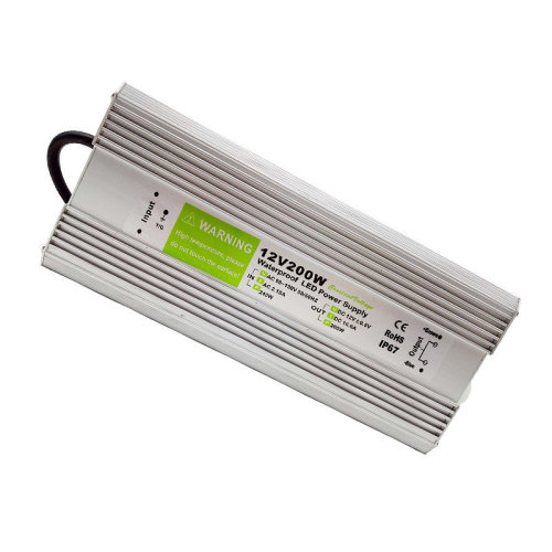 Waterproof DC12V IP67 200W 16.66A LED Driver Power Supply Transformer