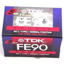 TDK FE90 Ferric Low Noise High Output BLANK TAPE CASSETTE New & Sealed
