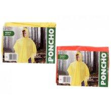 56 X 82 Orange Mens Pvc Poncho W/printed Insert -