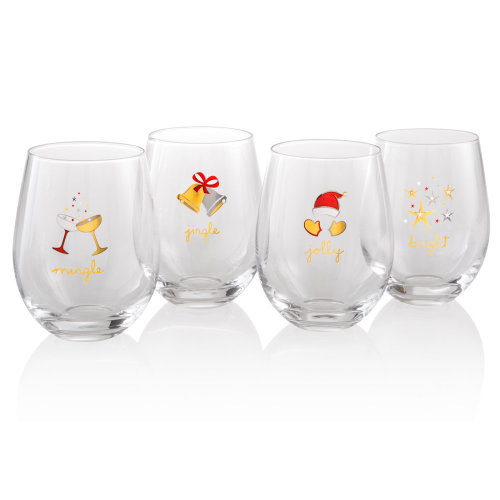 Artland Jolly and Bright Set of 4 Tumblers
