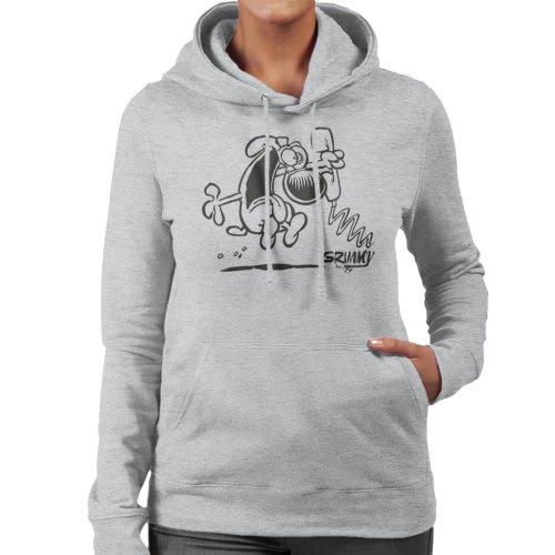 Grimmy On The Phone Women's Hooded Sweatshirt