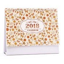 2017-2018 Classic Flowers PatternDesk Calendar, Office Pad Standing Calendar