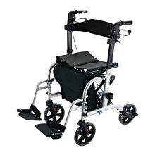 Homcom Transport 2 in 1 Aluminium Walking Rollator to a Wheelchair