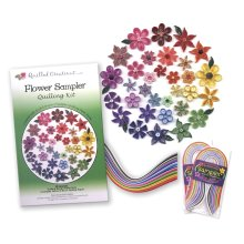 Quilled Creations Quilling Kit-Flower Sampler
