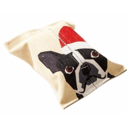 Convenient Cloth Toilet Paper Tissue Holder Storage Box Dog