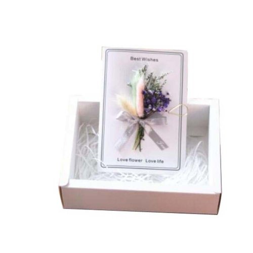 Handmade Dried Flowers Thank You Cards For Mother's Day/Father's Day