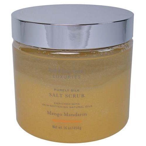 Bath & Body Works Luxuries Purely Silk Mango Mandarin Salt Scrub 16 oz