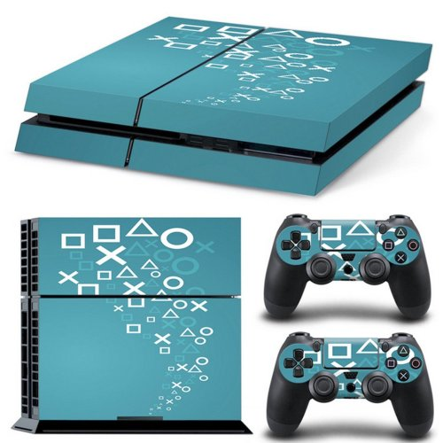 Cover Skin Stickers Decal Decor For Playstation 4 PS4 Console + 2 Controllers