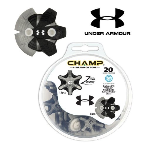 Champ Zarma Tour Under Armour Golf Shoe  Spikes Slim Lok Thread Insert System
