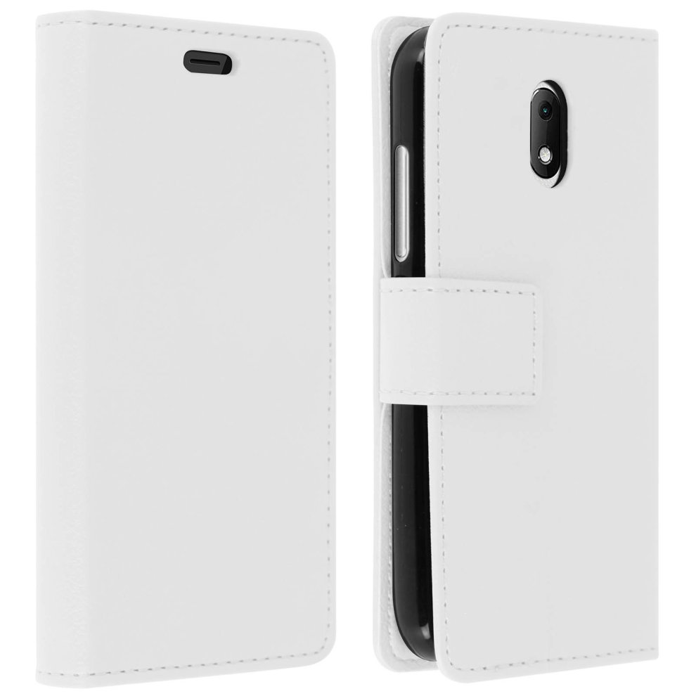 Flip wallet case slim cover for Wiko Sunny 3 Mini silicone shell - White