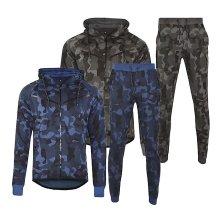 Men's Camouflage Fleece Tracksuit Set