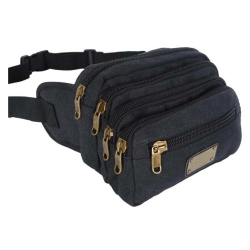 Sports Pockets High Capacity Multifunction Multilayer Pockets-Black