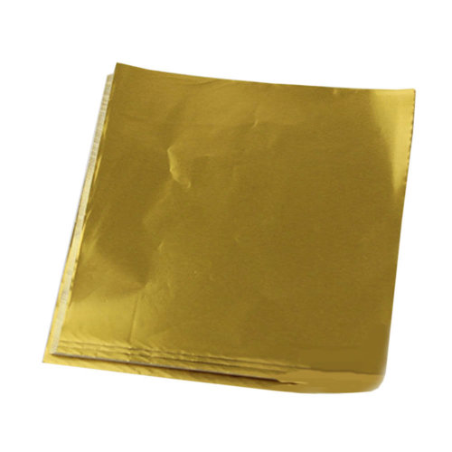 100pcs Handmade Aluminum Foil Packaging Paper Candy Chocolate Thick Wrappers- Golden
